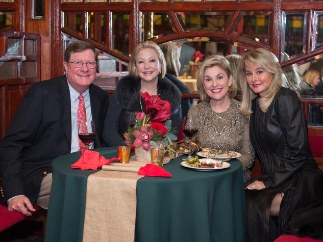 News, Bayou Bend Spiegeltent, Dec. 2015, Jim Weaver, Tina Pyne, Sharyn Weaver, Michelle Hevrdejs