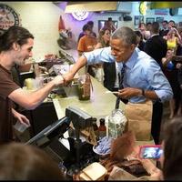 Obama Franklin Barbecue fist-bump