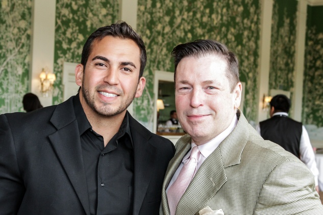 3 Anthony Villarreal, left, and Scott Evans at the Men of Distinction luncheon May 2014