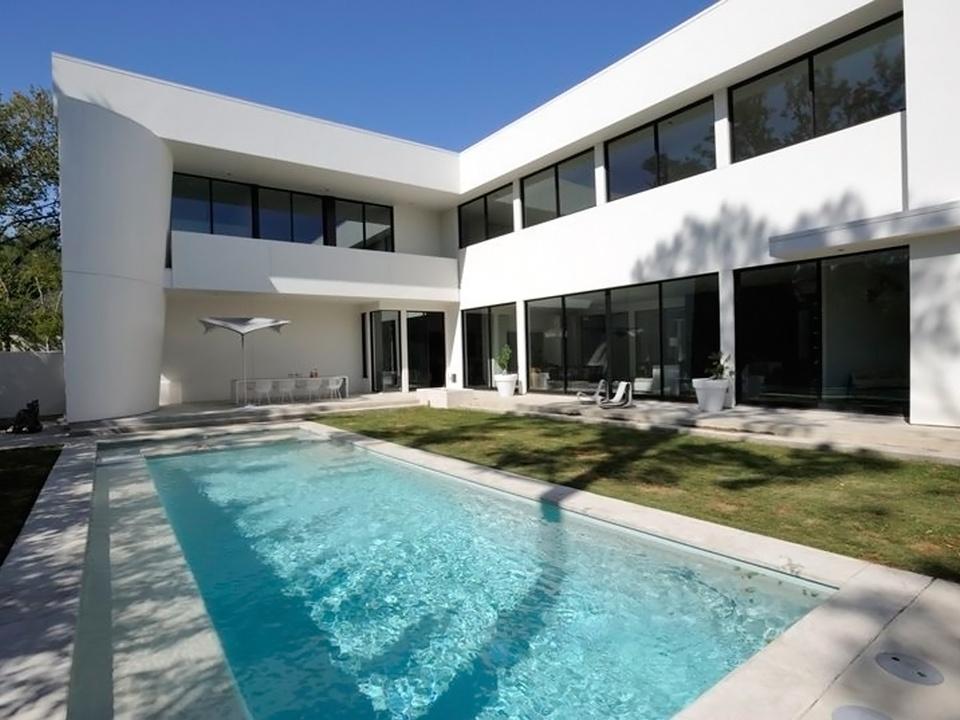 Houston Modern Home Tour September 2014 5302 Mandell St. Bianchi Architects pool