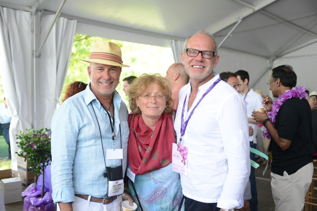 Michael Piana, from left, Pandora Snethkamp and Ed Parsley at the Art Heist April 2014