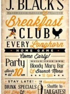 Austin photo: Events_J. Black's Breakfast Club_Poster