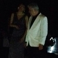 News, Shelby, Steve Tyrell and friend in the dark, March 2014