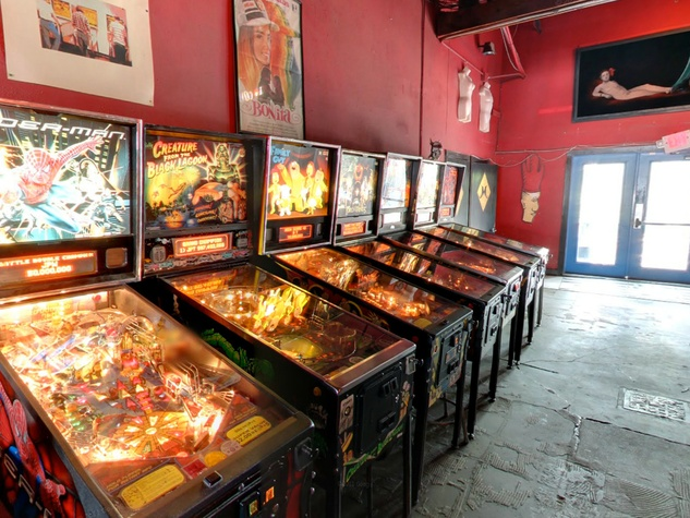 Poison Girl Houston bar pinball machines
