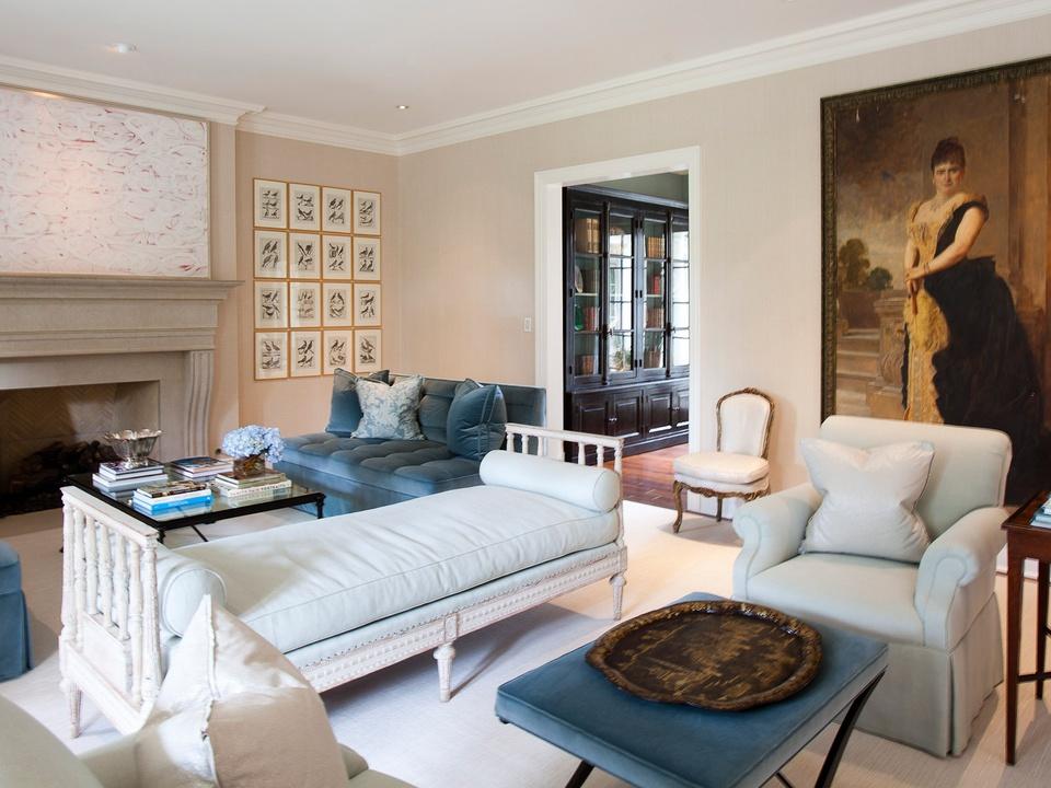 Laura Singleton, interior design, October 2012, large painting