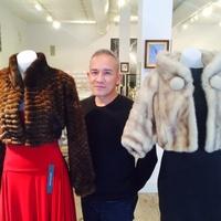 Cesar Galindo furs at Sloan Hall
