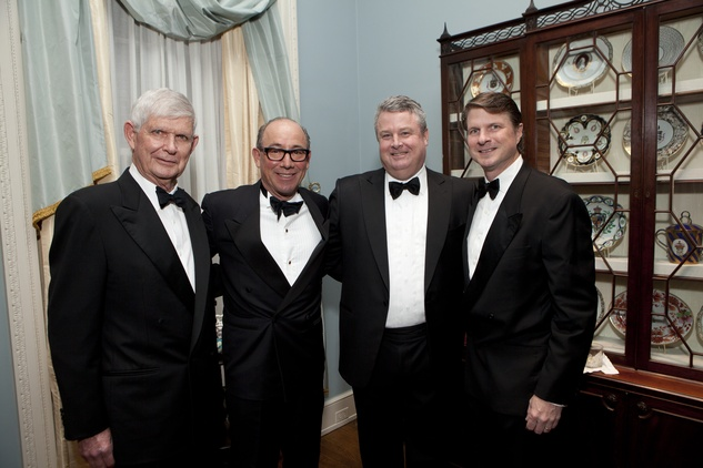 Tommy Reckling, from left, Mike Bonini, Luke McConn and James Reckling at the Rienzi Society dinner January 2014