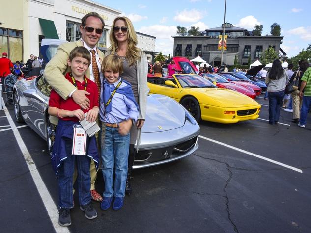 6 Brendan Blackburn, from left, Franco Valobra, Maximo Valobra and Nancy Valobra at the Ferrari Festival November 2013