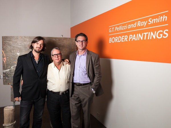 Peveto Border Paintings opening, September 2012, GT Pellizzi, Ray Smith, Scott Peveto