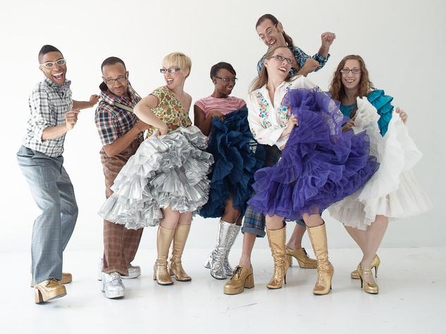 "Nancy, The World in a Dance, November 2012, promo shot of Hope Stone Dance and Houston Metropolitan Dance for ""squared dancer"""