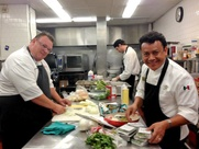 Chris Shepherd, Hugo Ortega James Beard finalists in the kitchen May 2013