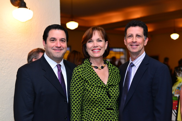 169 Xavier Pena, fro left, Deborah Kayser and James Stafford at the Santa Maria Gala June 2014