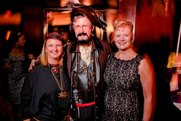 19 Madeleine and Larry Hanrahan, from left, with Leslie Bourne at the Ronald McDonald House Houston Boo Ball October 2014