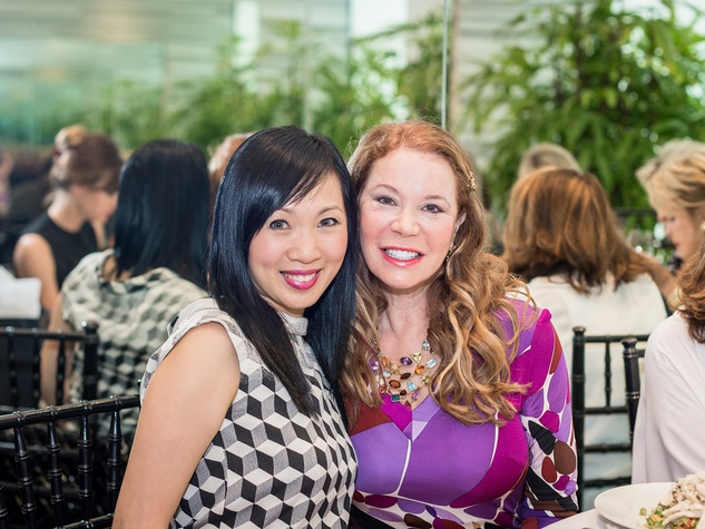 7 Connie Wang, left, and Cindi Rose at the Foundation for Teen Health Tootsies luncheon September 2014