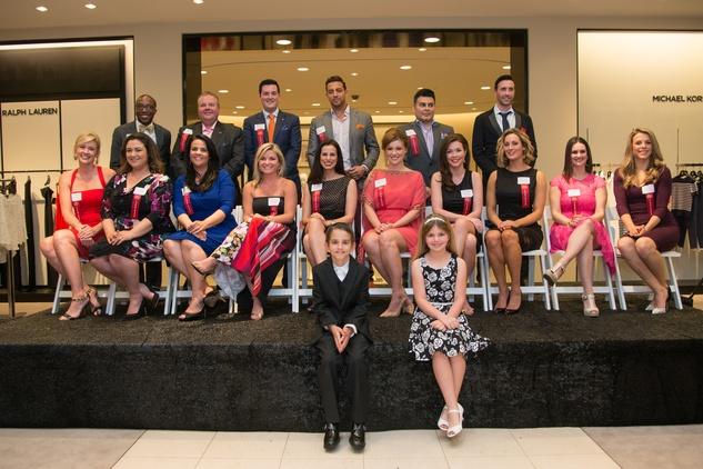 Group photo at the Leukemia & Lymphoma Society Man & Woman of the Year Kick-off April 2015