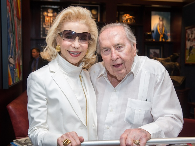 8 Lynn and Oscar Wyatt at the Houston Texans Owner's Suite party at NRG Stadium September 2014
