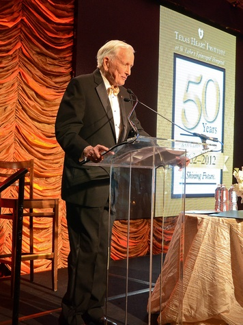 Texas Heart Institute, 50th anniversary gala, September 2012, Dr. Denton Cooley