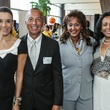 2304 Maricela Kruseman, from left, Mario Diaz, Saba Abashawl and Suzani Asmelash Grant at the Women in the Fast Lane of STEAM Luncheon September 2014