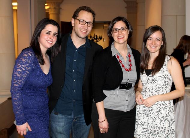 Rachel Reis, Philip Martin, Amanda Finney, Hannah Boshart, mba 8x8 party