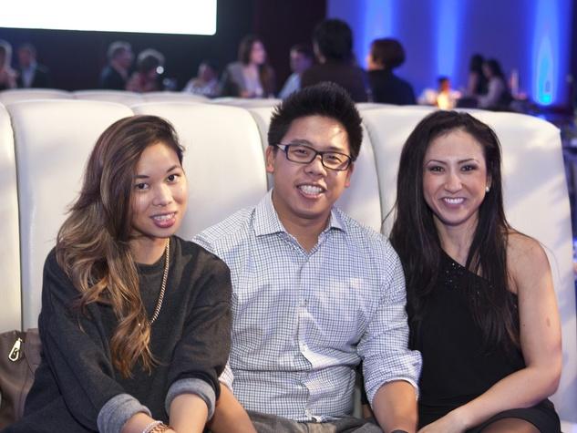 Liz Ha, from left, Thomas Chen and Dawn Nophsker at the Royal Sonesta Hotel renovation unveiling November 2013