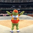 Astrodome public tour 50th anniversary party April 2015 Orbit took it all in at the 50th birthday party
