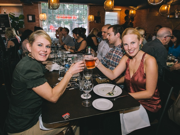 7 Stacy Langford, left, and Amy Sarazen at Dine Around Houston at Sparrow Bar & Cookshop