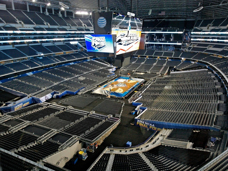 Slideshow ncaa chief loves jerry world but fans aren 39 t for Dining at t stadium
