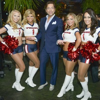 15 Blue Cure Foundation Houston Party for a Cure May 2013 Texans Cheerleaders & Ceron or Brianna, Caitlyn, Ceron, Maria, Amelia