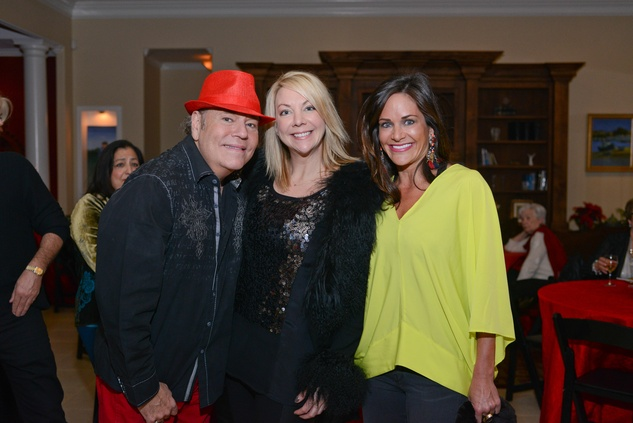 Bubba McNeely, from left, Stephanie Eustis and Mauney Mafrige at Bubba and Mark's Christmas Party December 2014