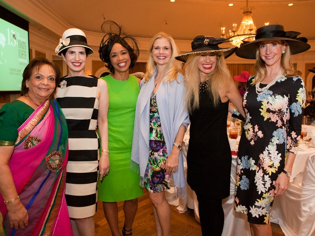 Leela Krishnamurthy, from left, Dr. Kelli Cohen Fein, Gina Gaston Elie, Amy Pierce Sofia Adrogué and Patricia Dewhurst at Hats Off to Mothers March 2014