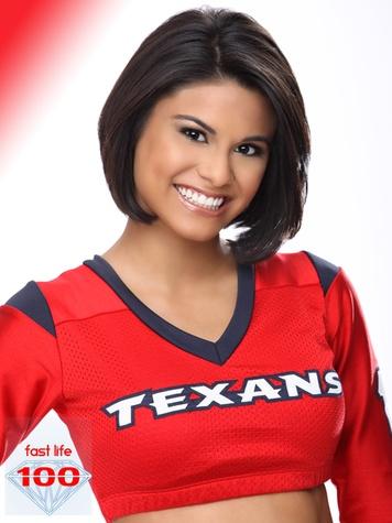 most beautiful NFL cheerleaders, Houston Texans cheerleaders, Liliana, December 2012