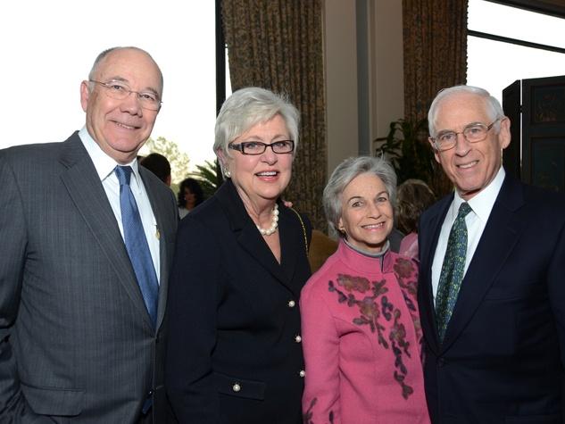 News_Shelby_UH Great Conversation_Steve Smith, Vicki Smith, Anne Mendelsohn, Dr. John Mendelsohnl_March 2013