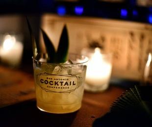San Antonio Cocktail Conference drink cup label 2015