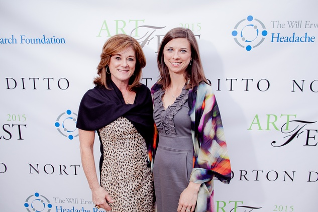 Kelli Fondren, left, and Lindsey Smith at the Norton Ditto ArtFest April 2015