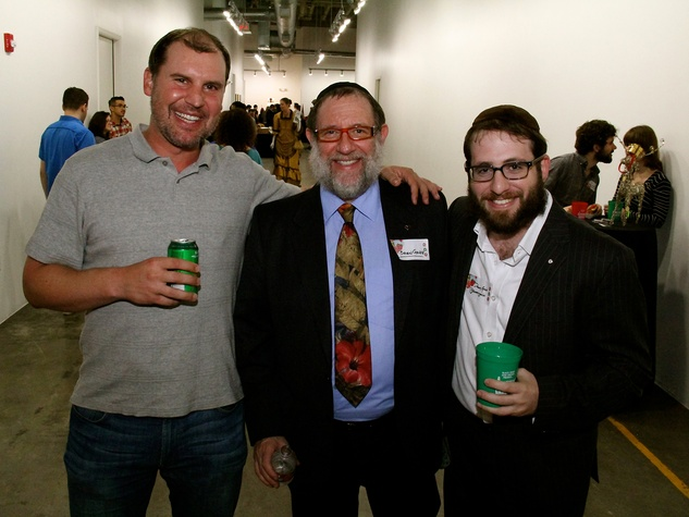 13 Tyler Crabtree, from left, Brian Gavin and Danny Gavin at the Black Sheep Agency Care-All Christmas party December 2013