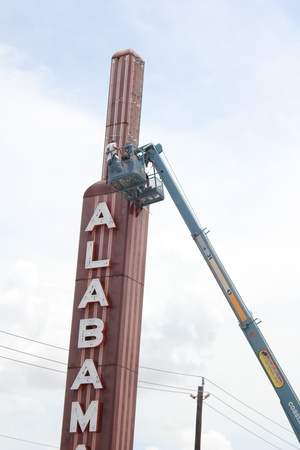 Alabama Theater Construction, Sign 2, June 2012