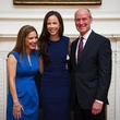 Nancy Calles, from left, Barbara Pierce Bush and Dr. Mark Kline at the Blue Bird Circle Luncheon May 2014