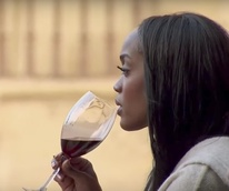 The Bachelorette Rachel Lindsay drinking wine