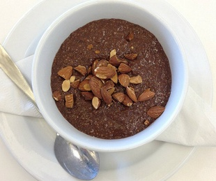 Chocolate chia pudding at Green House Market