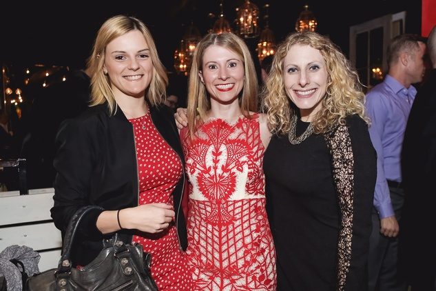 Johanna Smith, from left, Dr. Amanda Parker and Dr. Debbie Keller at the Page Parkes & Ruggles Black Holiday Soiree December 2014
