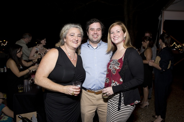 Claudia Horwitz, from left, with Joey and Nicole Romano at the Rothko Chapel Moonrise Party October 2014