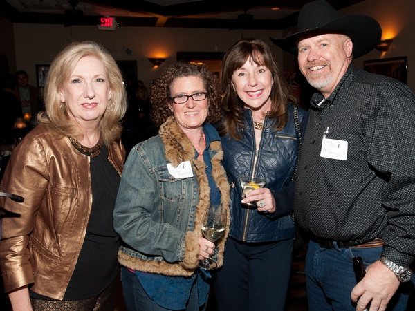 Cattle Baron's Gentlemen's Committee party, February 2013, Dee Darby, Ellen Ramsey, Elizabeth Stein, Red Ramsey