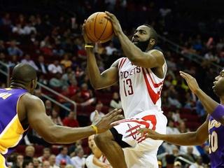 Houston Rockets, Lakers, James Harden, January 2013