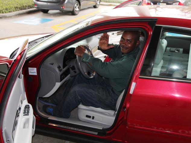 Jerome Edmond in new car bought by Patrick Henry February 2014