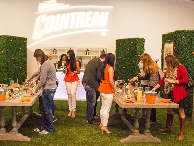 Cointreau Cocktail Garden at Holiday Pop-up Shop 2014