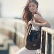 Italian handbags April 2014 Veragioia elana on bridge with hobo with fringe