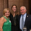 Kathy Dimmitt, from left, Mallory Rodrigue and Doug Dimmitt at the George Rodrigue Blue Dog dinner September 2014