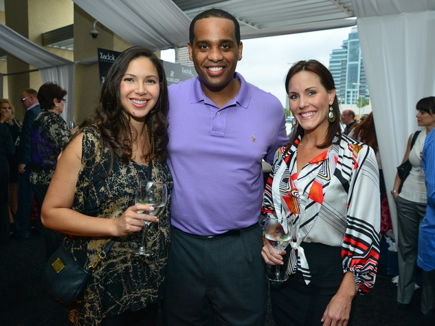 7 Zadok Hublot Party Houston May 2013 Elise Ghebremichael, Mewael Ghebremichael, Courtney Jones