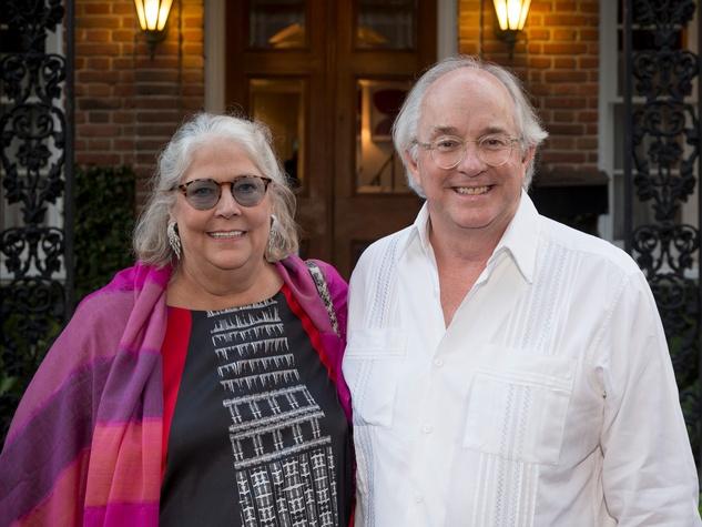 Lisa and John Dorn at Ballroom Marfa summer cocktail party July 2014