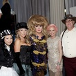 8 Cristin Tran, from left, Kodi Roberts, Lady Bunny, Vivian Wise and Matt Matthews at the Night Circus party January 2014